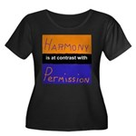 Harmony Permission Women's Plus Size Scoop Neck Da
