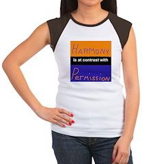 Harmony Permission Women's Cap Sleeve T-Shirt