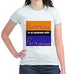 Harmony Permission Jr. Ringer T-Shirt