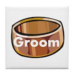 Groom Ring Tile Coaster