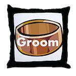 Groom Ring Throw Pillow