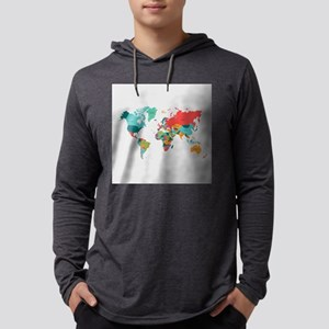 World Map With the Name of The Long Sleeve T-Shirt