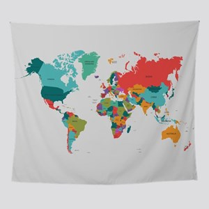 Maps tapestries cafepress world map with the name of the count wall tapestry gumiabroncs Gallery