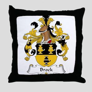 Brock Family Crest Throw Pillow