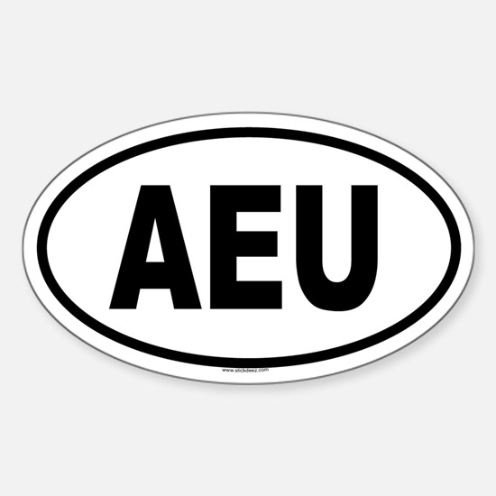 AEU Oval Decal