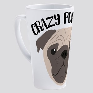 Crazy Pug Lady 17 oz Latte Mug