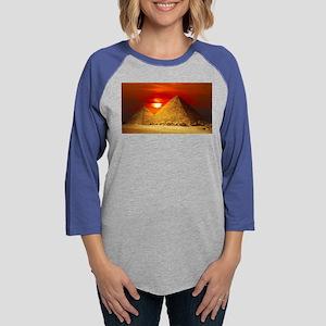 Egyptian Pyramids At Sunset Long Sleeve T-Shirt