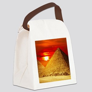 Egyptian Pyramids At Sunset Canvas Lunch Bag
