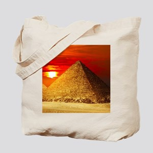 Egyptian Pyramids At Sunset Tote Bag
