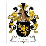 Brem Family Crest Small Poster