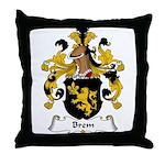 Brem Family Crest Throw Pillow