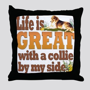 """Collie by my side"" Throw Pillow"