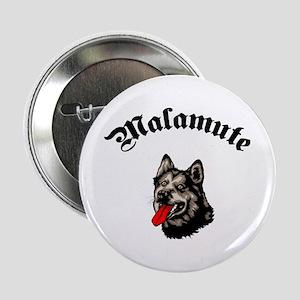 "Alaskan Malamute 2.25"" Button"