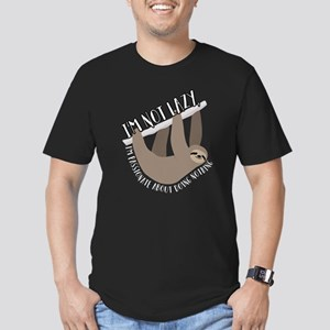 I'm Not Lazy Sloth Men's Fitted T-Shirt (dark)