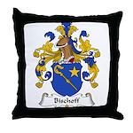 Bischoff Family Crest Throw Pillow