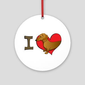I heart dachshunds Ornament (Round)