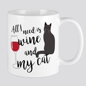 All I Need is Wine and My Cat 11 oz Ceramic Mug