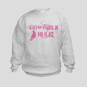 Cowgirls Rule Kids Sweatshirt