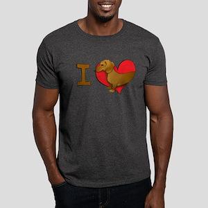 I heart dachshunds Dark T-Shirt