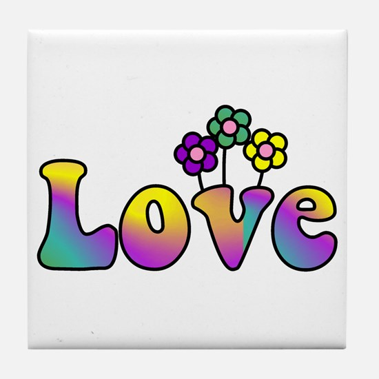 With Love, All Things Grow Tile Coaster