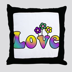 With Love, All Things Grow Throw Pillow
