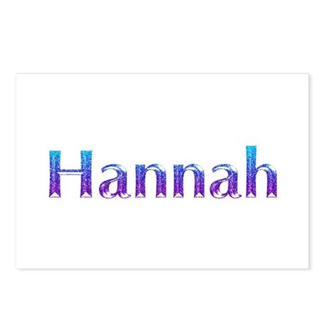 Glitter Name Hannah Postcards Package