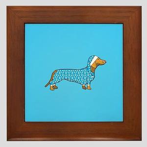 dachshund in Framed Tile