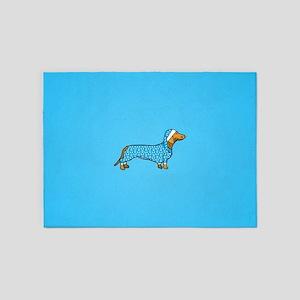dachshund in 5'x7'Area Rug