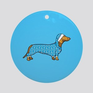 dachshund in Round Ornament