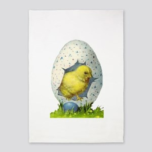 Vintage Easter Chick And Easter Egg 5'x7'a