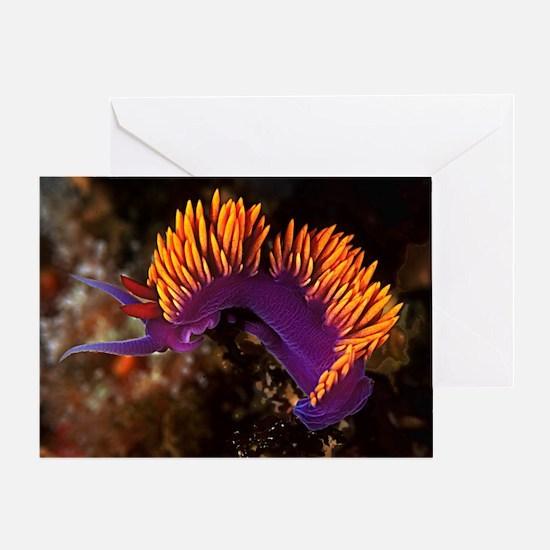 Spanish Shawl Nudibranch Greeting Card