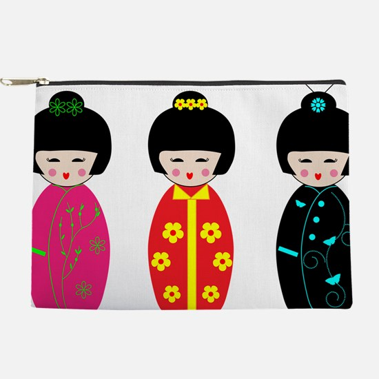 Kokeshi Dolls Makeup Bag