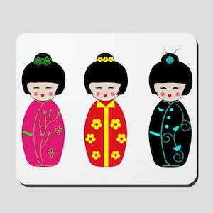 Kokeshi Dolls Mousepad