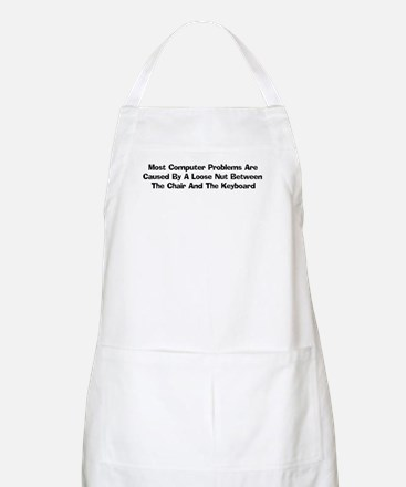 Loose Nut At Keyboard BBQ Apron