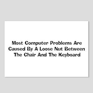 Loose Nut At Keyboard Postcards (Package of 8)