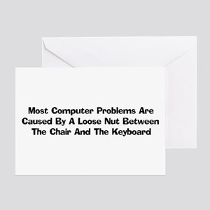 Loose Nut At Keyboard Greeting Card