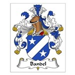 Bandel Family Crest Small Poster