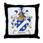 Bandel Family Crest Throw Pillow