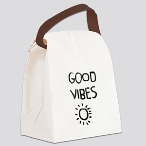 Good Vibes Canvas Lunch Bag