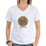 Real Bobcat Pawprint Women's V-Neck T-Shirt