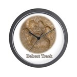 Real Bobcat Pawprint Wall Clock