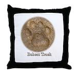 Real Bobcat Pawprint Throw Pillow