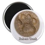 Real Bobcat Pawprint Magnet