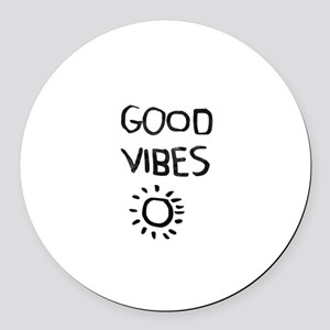 Good Vibes Round Car Magnet