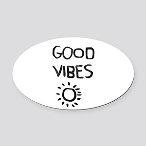 Good Vibes Oval Car Magnet