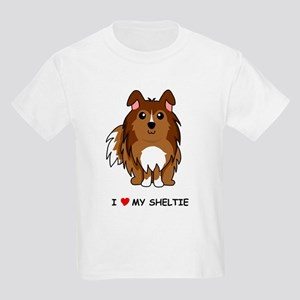Sable Sheltie Kids Light T-Shirt
