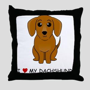 Smooth Dachshund Throw Pillow
