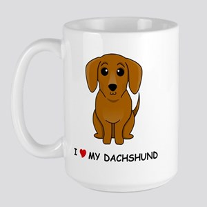Smooth Dachshund Large Mug