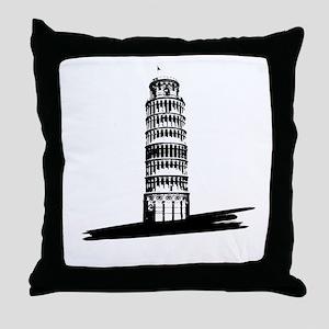 """The Tilting Earth of Pisa"" Throw Pillow"