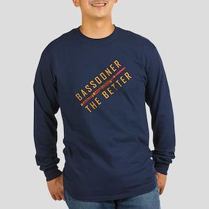 Bassooner (diagonal) Long Sleeve Dark T-Shirt